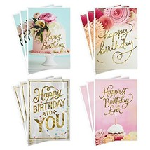 Hallmark Assorted Birthday Greeting Cards, Pretty Pinks - $10.55