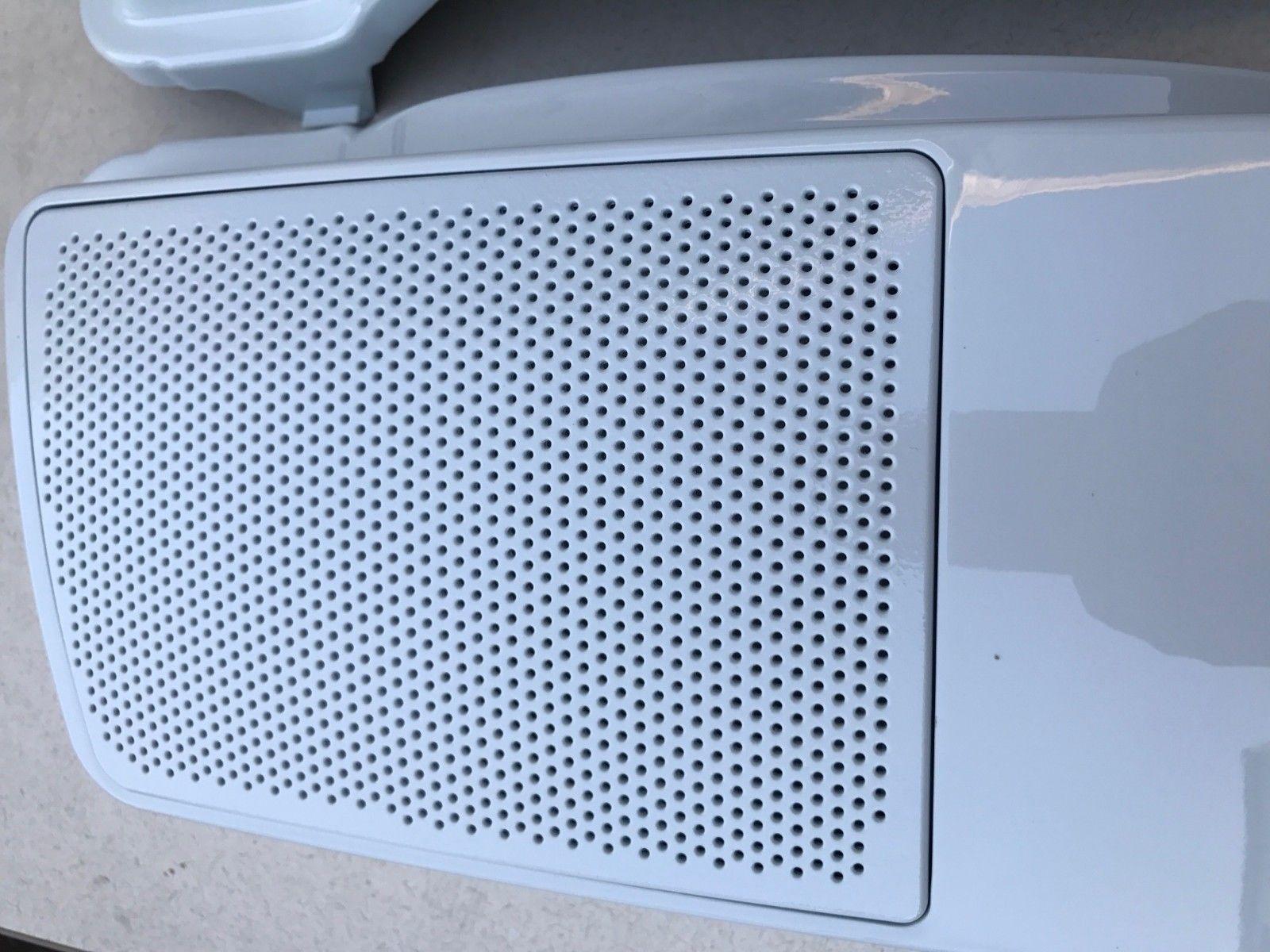 Glacier white Speaker Lids Harley HD Street Glide Road King
