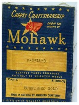 Carpet of the mohicans vintage gold polishing cloth label - $31.78