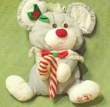 Vintage PUFFALUMP Christmas MOUSE 1987 FISHER PRICE Plush Stuffed Animal... - $14.01