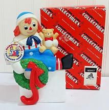 Raggedy Andy Christmas Stocking Holder Figurine FLAMBRO Hanger w/ Box & ... - $28.53