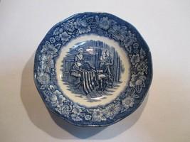 "Staffordshire Liberty Blue Fruit Dessert Bowl s 5"" Betsy Ross - $4.45"