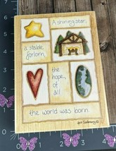 Stamps Happen A Shining Star Christmas Nativity Rubber Stamp Hope Large #BS1-23 - $13.85