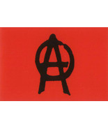 Anarchy Poster Flag Red Punk Rock Logo - $15.99