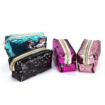Bag Cosmetic Makeup Case Travel Pouch Mermaid Clutch Purse Storage Organ... - $240,55 MXN