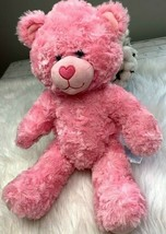 """Build a Bear BABW Valentines Pink Teddy Bear with Heart Nose 17"""" - $19.30"""