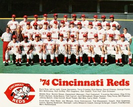 MLB 1974 Cincinnati Reds Team Picture With names Color  8 X 10 Photo Picture - $5.99
