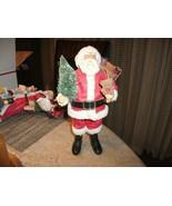 "RR-20#19 Traditional Christmas Beautiful  Santa figurine ceramic 9 +"" tall - $22.76"