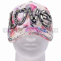 "Yellow Rhinestone ""Love"" Women Baseball Cap Hat Cool Head Wear For Hot W... - $12.17 CAD"