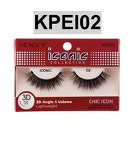 d5349e60833 I ENVY BY ICONIC COLLECTION 3D ANGLE & VOLUME EYELASHES # KPEI02 CHIC  ICON -