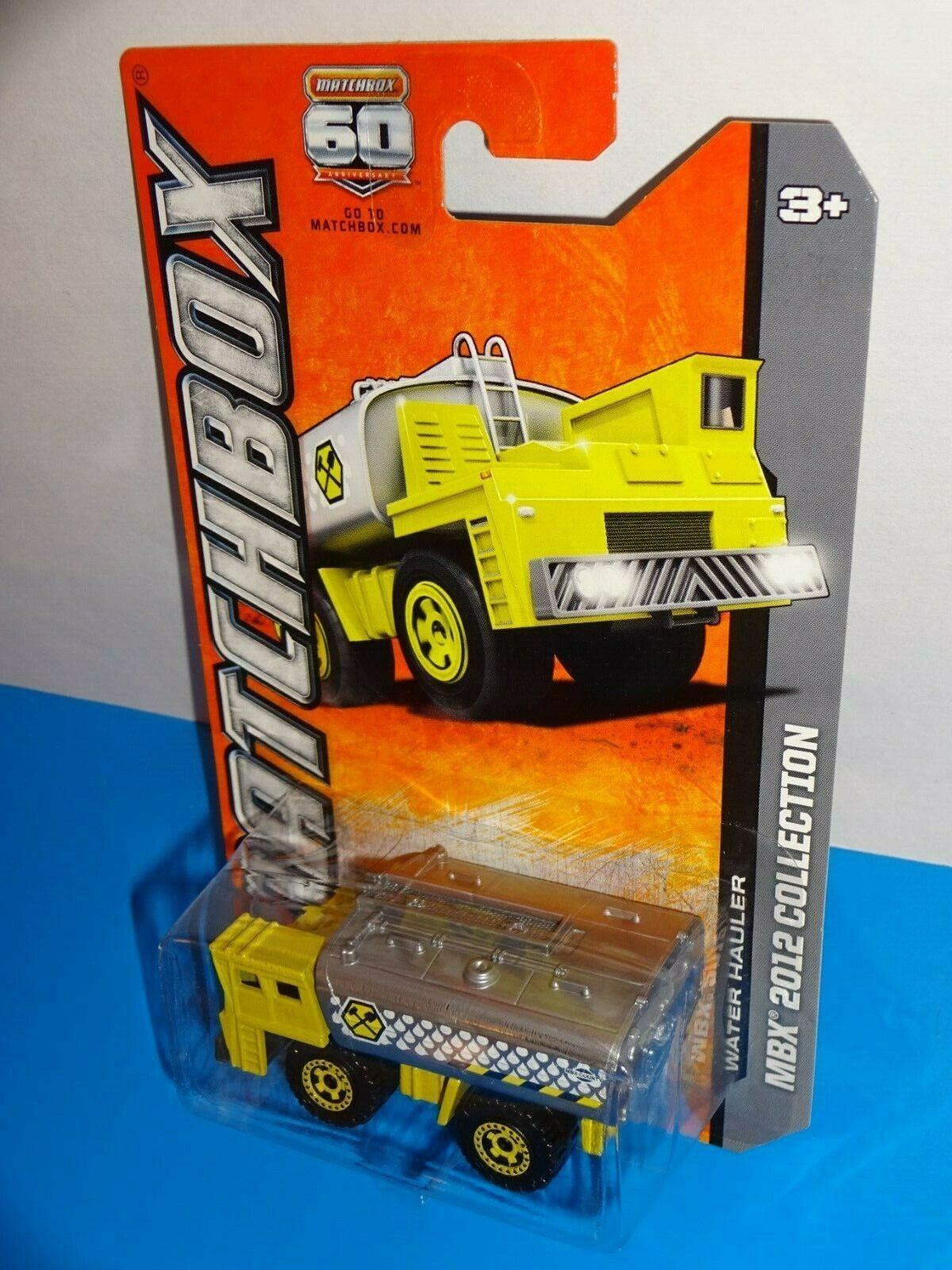 Matchbox 2012 Collection #34 Water Hauler Tank Truck Yellow & Gray