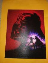 Star Wars Darth Vader Distressed Canvas Wall Art 6.50 W x 8.50 L Artissimo - $12.86