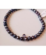 Pure Pearl Black Bracelet set in Sterling Silver New Jewellery Bangle RRP £99.00 - $57.59