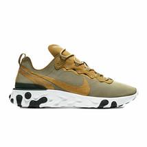 Nike Men's React Element 55 Metallic Gold/White/Black BQ6166-700 - $123.45