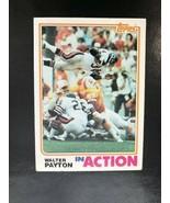 Walter Payton 1982 Topps In Action Card #383  HOF Football - $1.19