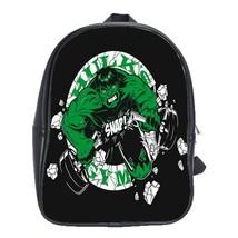 Backpack School Bag Hulk Gym Marvel Superheroes Cartoon Movie Fantasy Ga... - $33.00