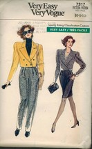 Vogue 7317 Misses' Jacket, Pants & Skirt Pattern 6-10 - $11.76