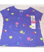 New Purple Hearts Shirt Top Size 24 Month Garanimals Short Sleeve - $10.00