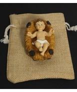 "Baby Jesus crib 3"" Figurine Christmas Holiday gift Jesus nativity set be... - $9.90"