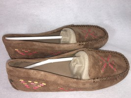 Ugg Calze Rustic Weave Chestnut Mocc ASIN SLIP-ON Shoes Loafers 7 Womens 1007674 - $69.99