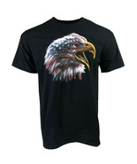 AMERICAN EAGLE USA ADULT BLACK T-SHIRT M L XL 2XL PATRIOTIC 4TH JULY FRE... - $9.99