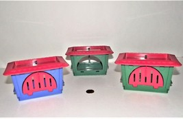 Vintage Beauty Salon Cages Toy or Pet Shop Furniture, Lot of 3 - $10.88