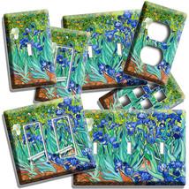 VINCENT VAN GOGH IRISES FLOWER GARDEN LIGHT SWITCH OUTLET PLATE ART STUD... - $10.99+
