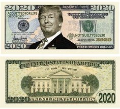Pack of 25 - Donald Trump 2020 Presidential Re-Election Dollar Bills Acq... - $8.90