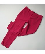 NWT Theory Treeca 2 in Watermelon Pink Stretch Wool Tapered Slim Ankle P... - $92.00