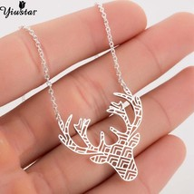 Yiustar Christmas Deer Necklace Antler Necklaces & Pendants Girls Jewelr... - $10.11