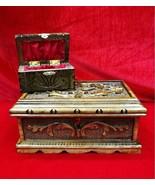 New PUZZLE MAGIC TRICK SECRET JEWELERY BOX CASE WOOD PANDORA HANDMADE WI... - $49.41