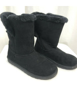 Arizona  Faux Suede and Fur Lined Winter Boots, Women's 7, Black - $33.24