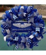 Air Force Deco Mesh Wreath - Air Force Wreath - Military Wreath - Air Fo... - $68.00