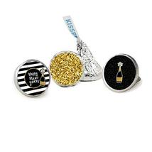 Stripes and Glitter New Year 2020 Favor Stickers, Kisses Candy Stickers, 324 Tot - $13.37