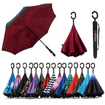 Spar. Saa Double Layer Inverted Umbrella with C-Shaped Handle, Anti-UV W... - $19.58