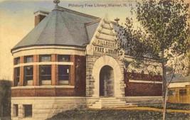 Pillsbury Free Library Warner New Hampshire 1909 postcard - $7.43