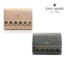 Nwt Kate Spade New York Palmona Road Joy Trifold Wallet Scallop Grey WLRU4988 - $66.00