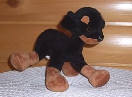 "Plush Poseable Unique Link-Frame 12"" Goffa Black Rottweiler Doberman PlayMate  - $8.89"