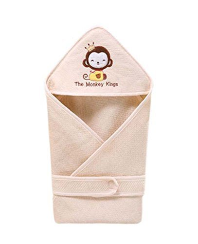 Monkey Pattern Summer Thin Section Cotton Baby Swaddle Blankets