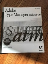 Adobe Type Manager Deluxe 4.6 User Guide Instructions Only Ships N 24h - $11.86
