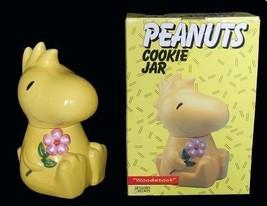 VTG WOODSTOCK Peanuts Bright Yellow Cookie Jar NIB 1994 Benjamin Medwin ... - $149.99