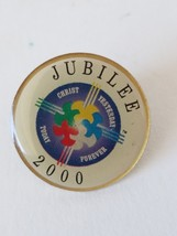 Jubilee 2000 Christ Yesterday Today Forever Lapel Hat Pin - $7.27