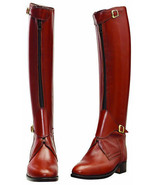 Handmade Leather Tall Riding Boots Men boots for Horse riding Polo boots - $337.02
