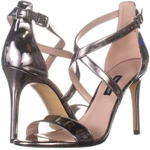 Nine West Mydebut Kleid Absatz Sandalen 918, Zinn, 9 US - $59.99