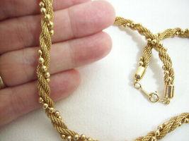 Avon Gold Plate Mesh Twist Ball Chain Choker Necklace Elegant Classic image 3