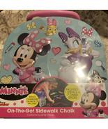 Minnie Disney Junior on the go sidewalk chalk Tin, one stencil & 7 chalk... - $10.66