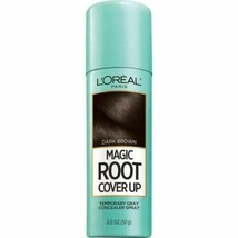 L'oreal Magic Root Cover Up Temporary Gray Concealer Spray - Dark Brown - 2 Oz. - $14.99