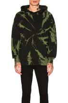 NWT Publish Kerami Pullover Hoodie Sweatshirt in Black & Green Tie Dye s... - $83.16