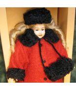 Dollhouse Teen Girl Dressed HOXC510 Heidi Ott red coat blond Miniature - $81.70