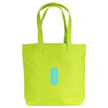 "Clinique Lime Green w/Aqua ""C"" Logo Print Open Shopping Shoulder Tote Beach Bag - $15.00"